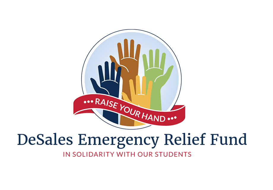 DeSales Emergency Relief Fund logo - hands raised up