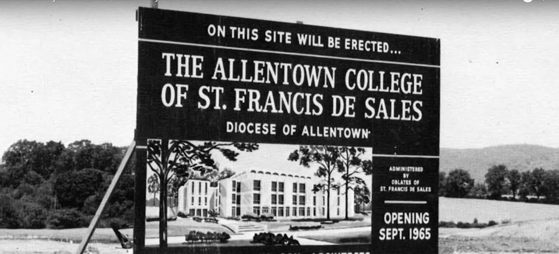 Future Site of Allentown College St. Francis de Sales