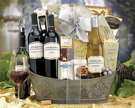 Cheer and Wine Lover Basket