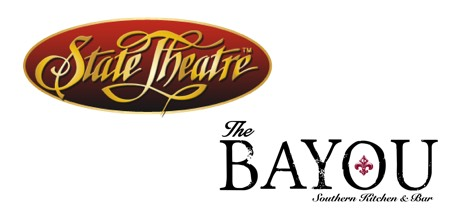 State Theater and the Bayou logo