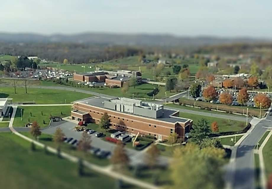 DeSales Drone Shot with Tilt-shift effect