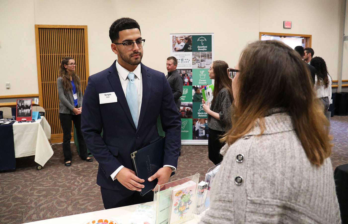 Sergio Diaz at the 2019 Career and Internship Fair