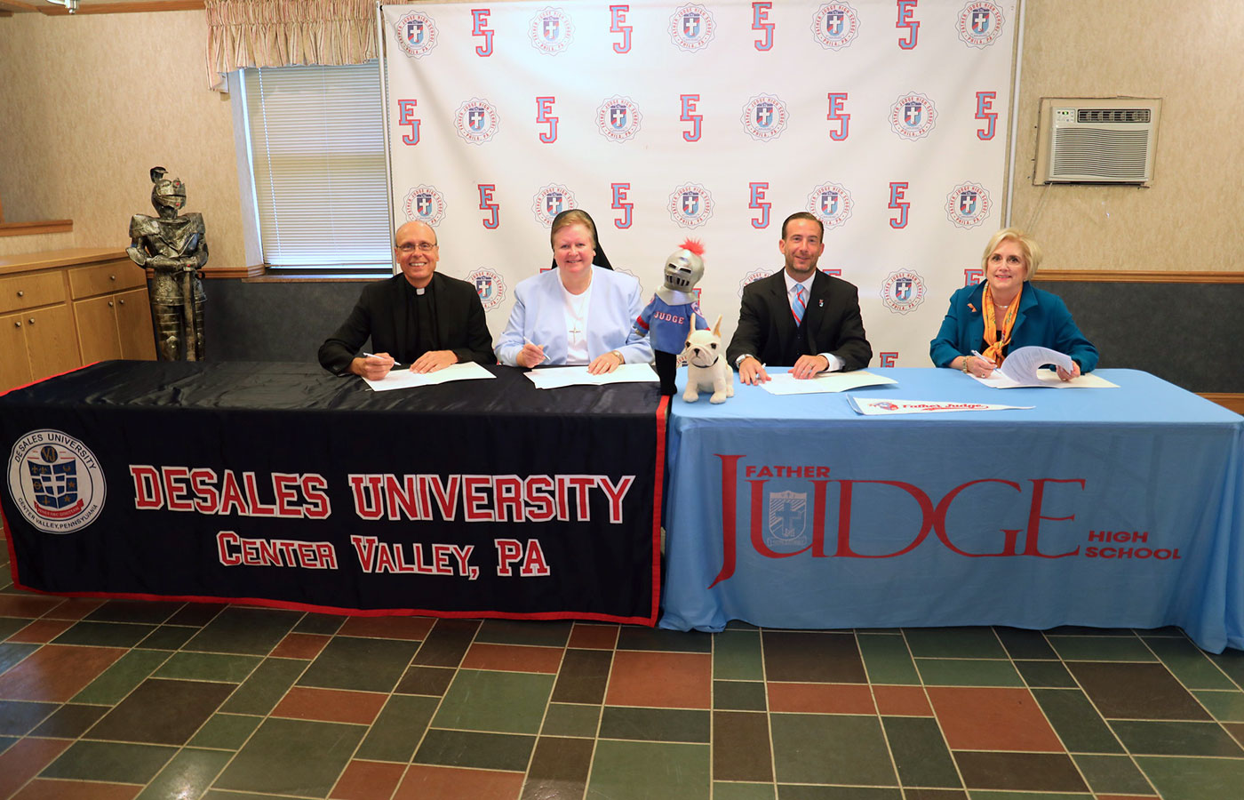DeSales and Fr Judge HS sign partnership