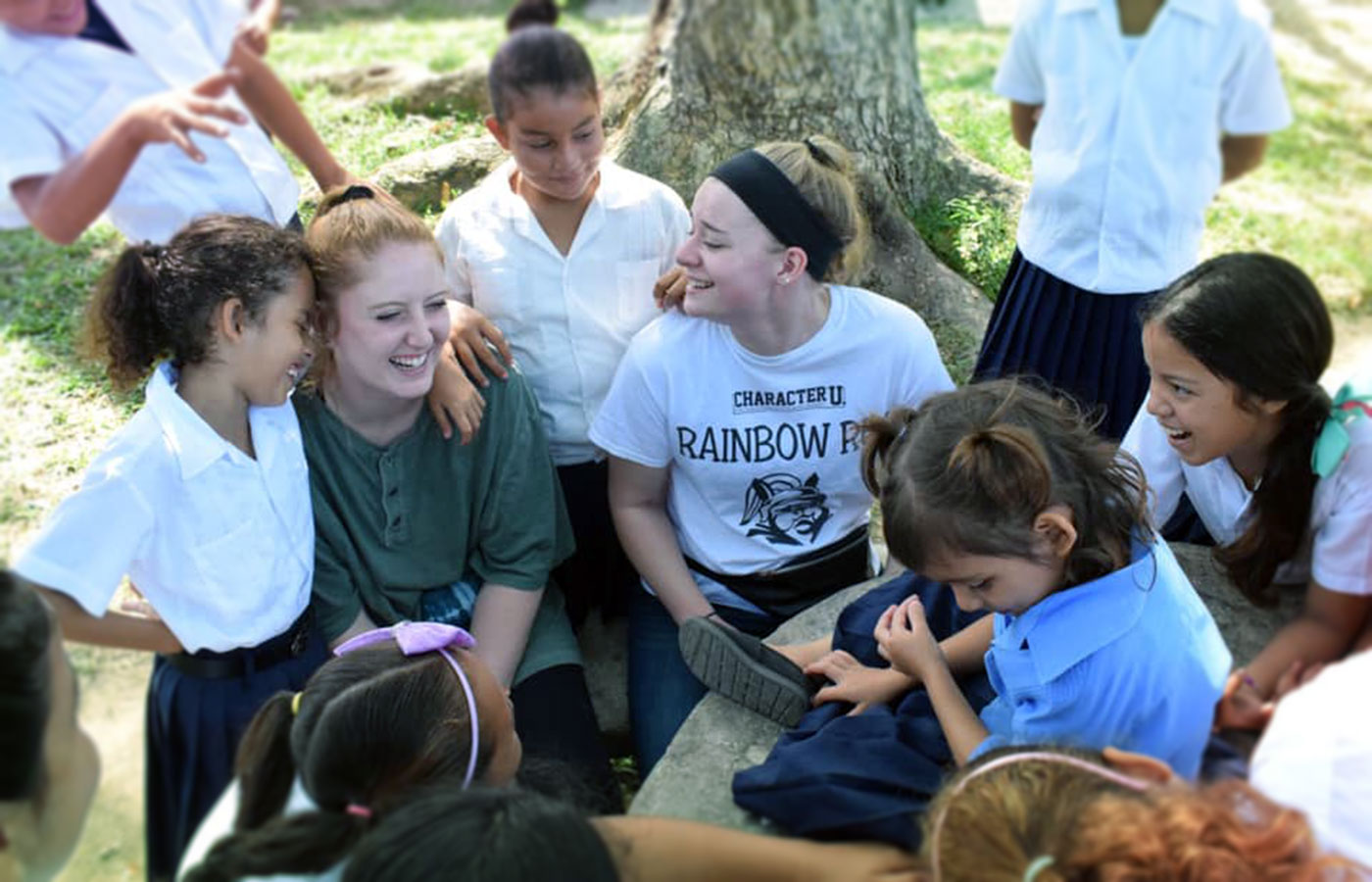 DeSales students on a service spring break trip to Honduras