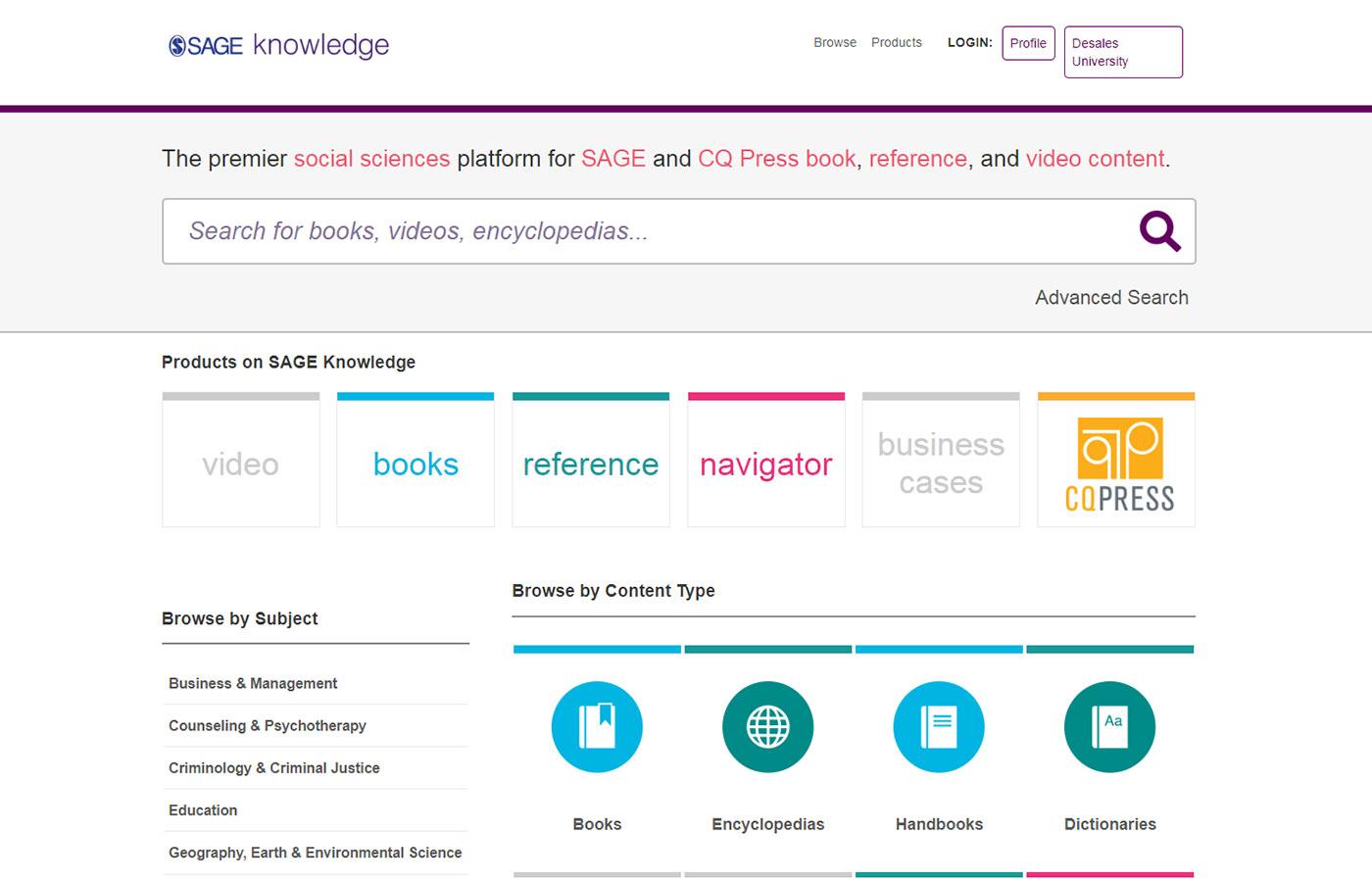 Sage Knowledge Database
