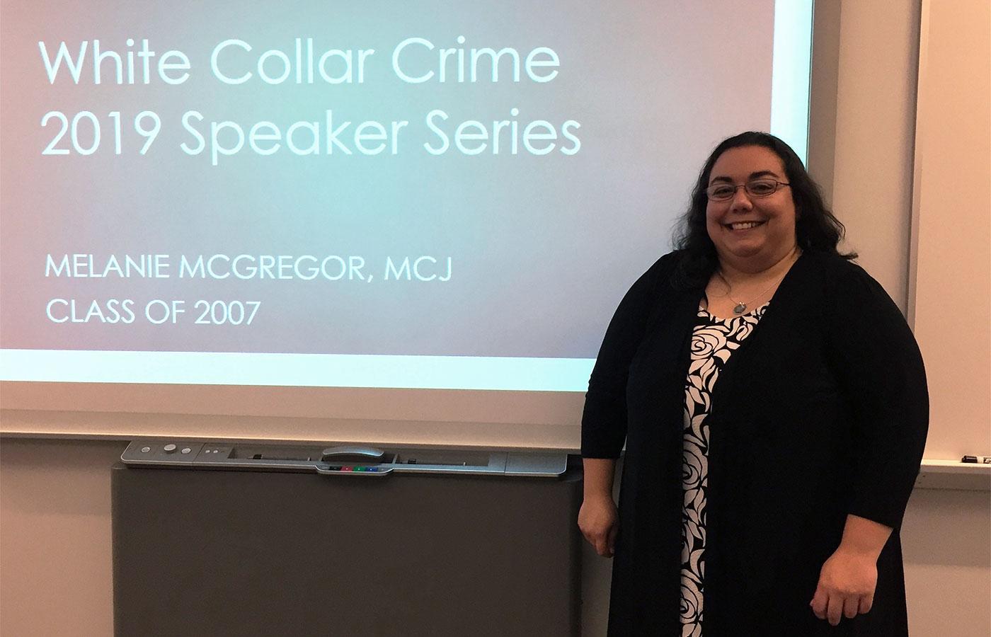 Melanie McGregor on White Collar Crimes