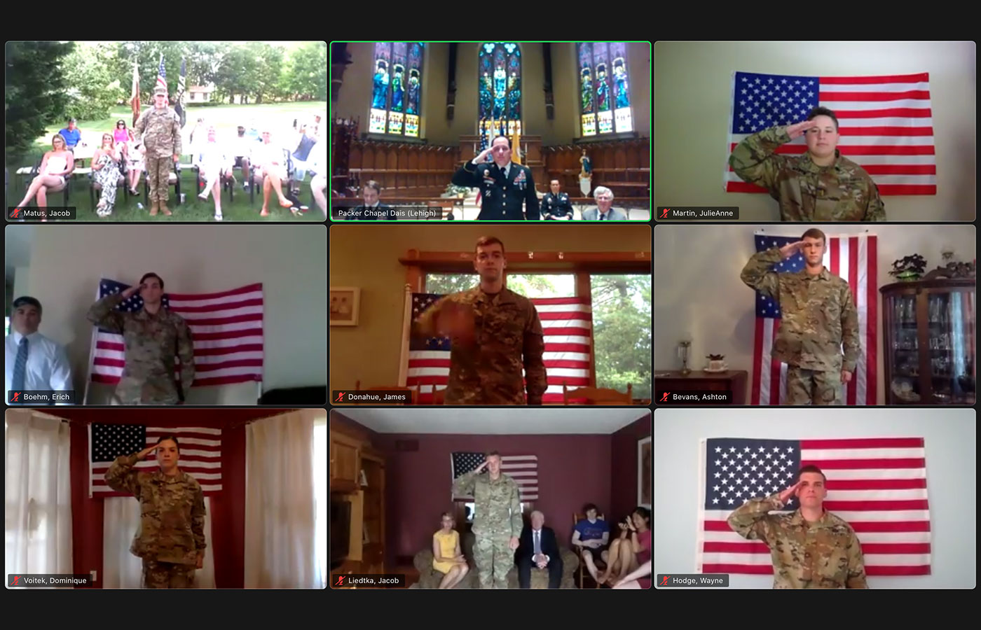2020 Army Commissioning virtual ceremony