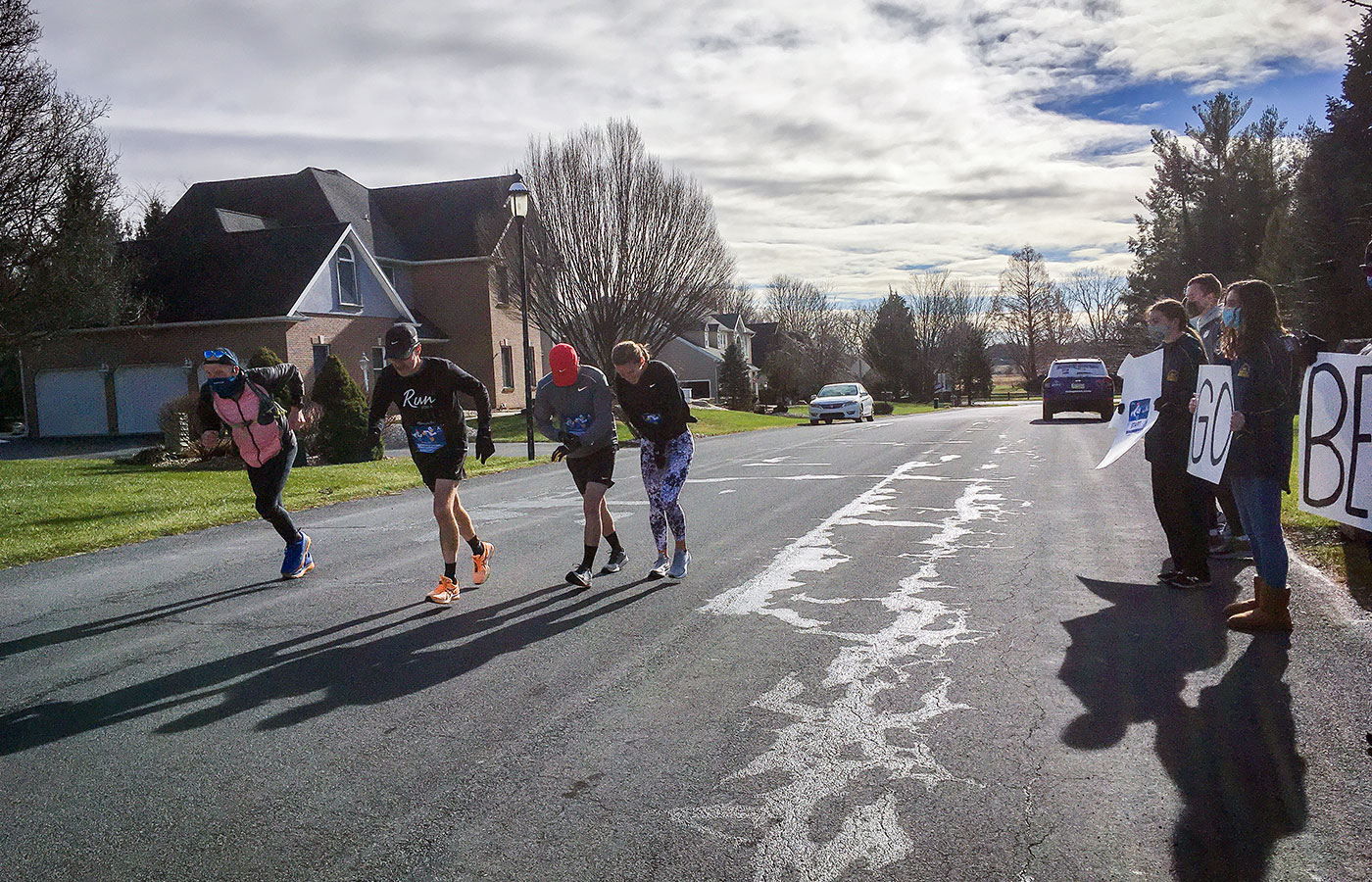 the Decker family running a Neighborhood Half marathon