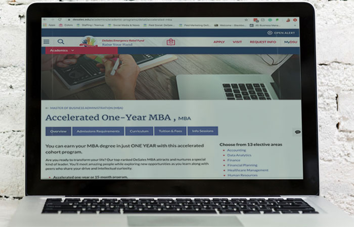 Accelerated MBA Program on a Laptop