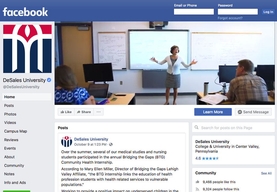 Facebook Recruiters Visit DeSales