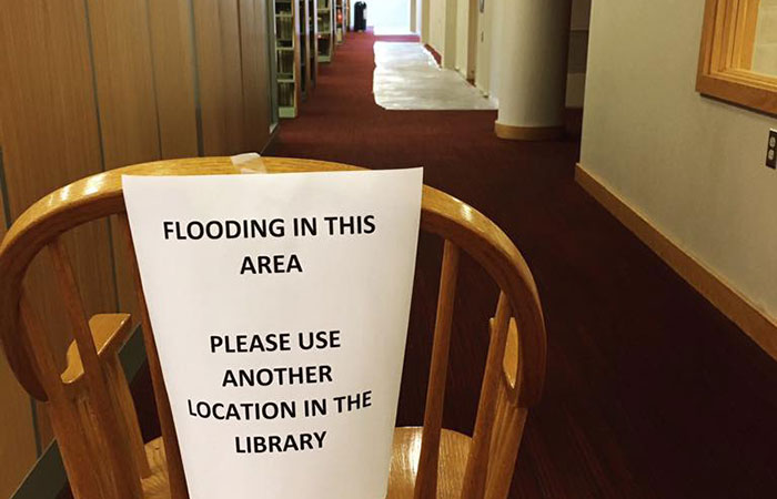 Flooding-in-Trexler-Library