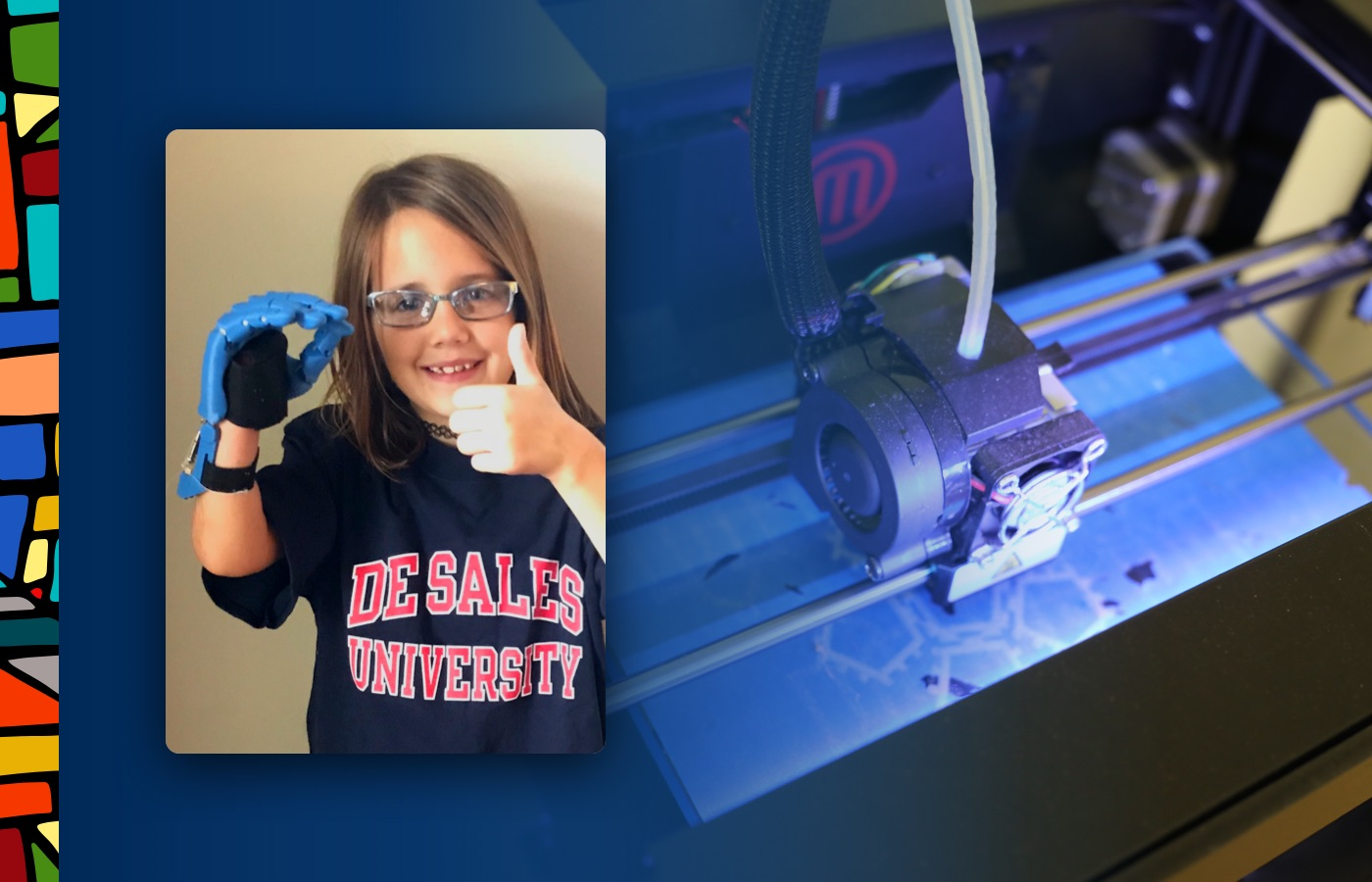 DeSales printed a prosthetic hand for Georgia