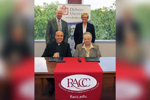 racc-and-desales-sign-partnership-agreement