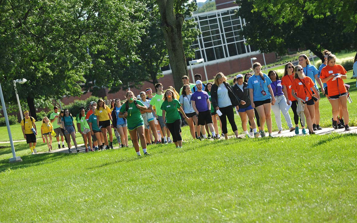 DeSales Orientation Parade of Pods